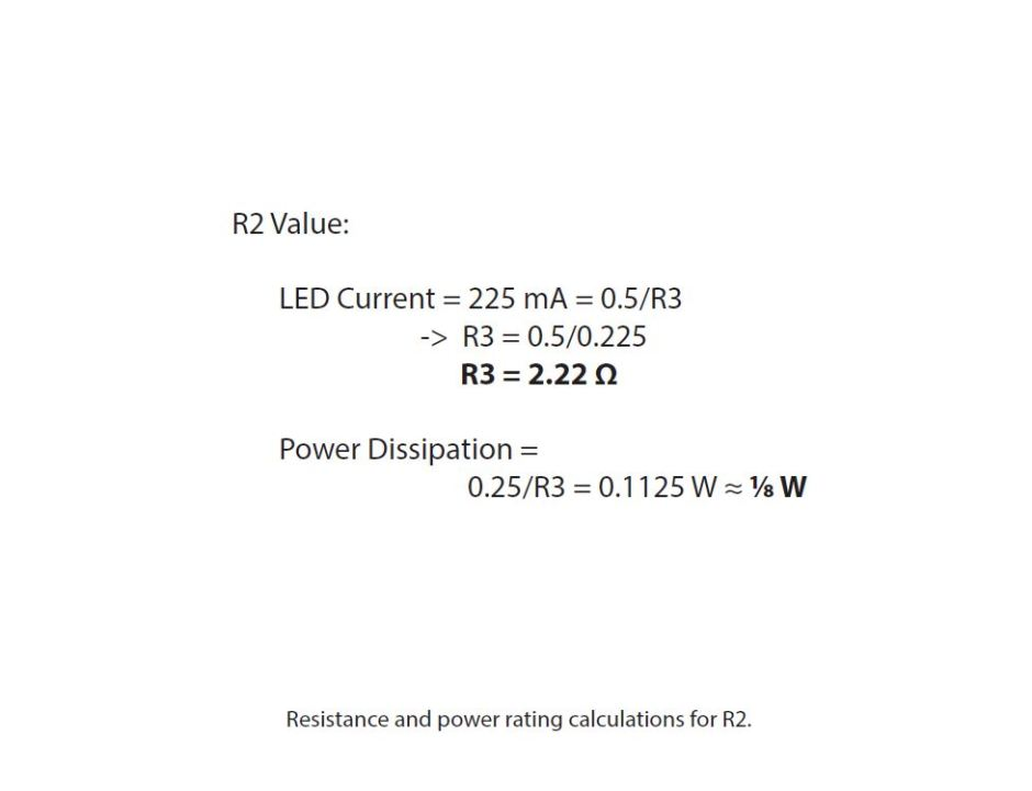 bike light - R2 calculations